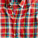 Indian cotton short-sleeve shirt in Palermo plaid