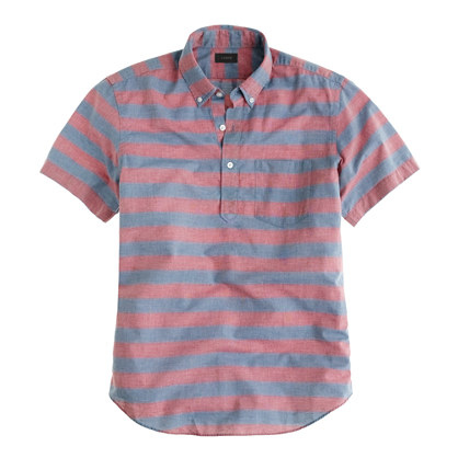 Short-sleeve popover in stripe