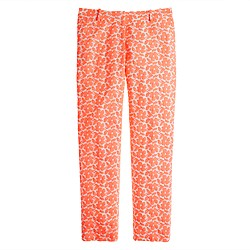 Collection café capri in embroidered neon floral
