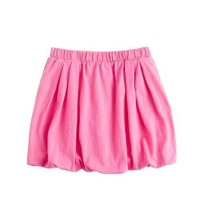 Girls' knit bubble skirt