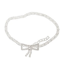 Collection rhinestone bow belt