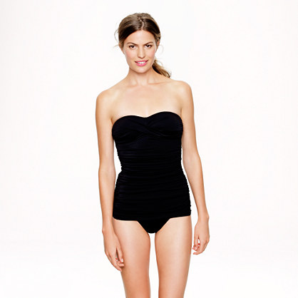 Skirted twist bandeau tank