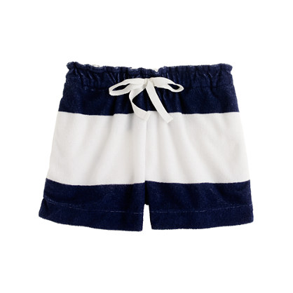 Girls' stripe terry short