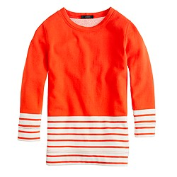 Fleece nautical colorblock popover