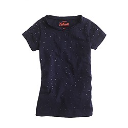 Girls' raining rhinestones tee