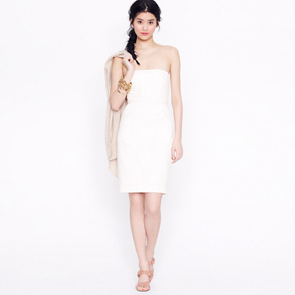 Ella dress in petal eyelet
