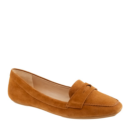 Lexington suede penny loafers - flats - Women's shoes - J.Crew :  lexington suede penny loafers womens shoes flats