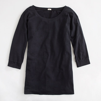 Factory linen-cotton dolman-sleeve tee