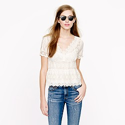 Collection embroidered eyelet top