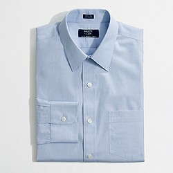 Factory slim wrinkle-free point-collar dress shirt