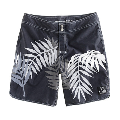 Quiksilver® for J.Crew scallop board short in bamboo print