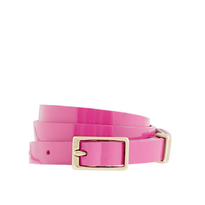 Patent leather belt