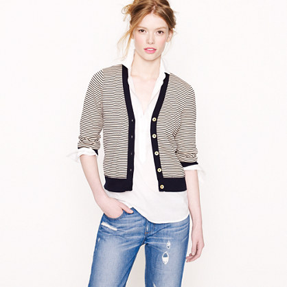 Perfect-fit stripe cardigan