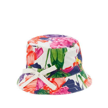 Girls' bucket hat in garden floral