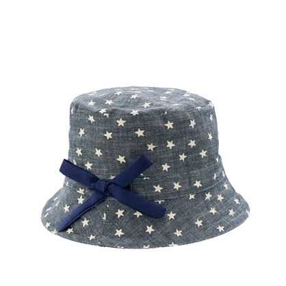 Girls' bucket hat in twinkle chambray