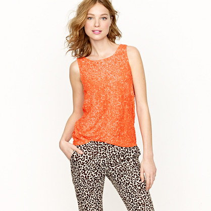 Collection persimmon sequin tank