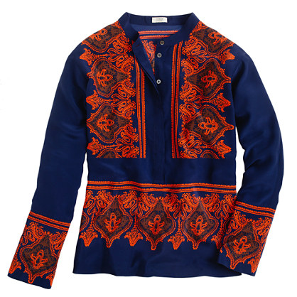 Silk dervish paisley tunic
