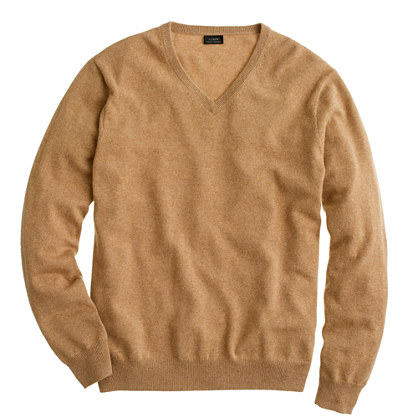 Tall cashmere V-neck sweater