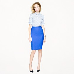 Petite pencil skirt in Super 120s
