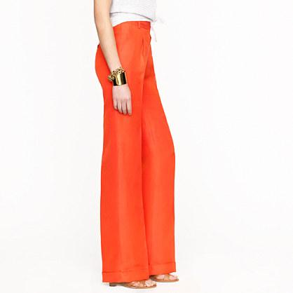Hutton trouser in raw silk