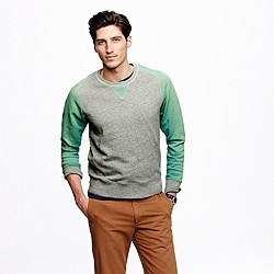 Wallace & Barnes colorblock raglan sweatshirt