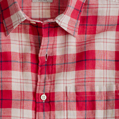 Summerweight twill shirt in Yarmouth plaid