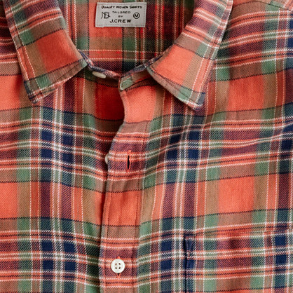Summerweight twill shirt in Bramber plaid