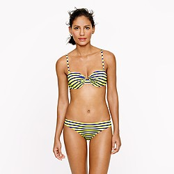 Double-stripe underwire top
