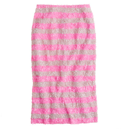 Collection pencil skirt in swirled sequin stripe