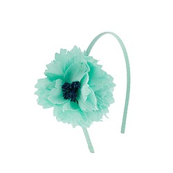 Girls' pleated cotton flower headband