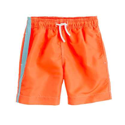 Boys' neon swim trunks