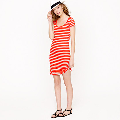 T-shirt dress in stripe
