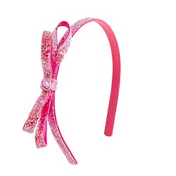 Girls' glitter headband with bow