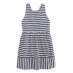 Girls' mixed stripe knit sundress