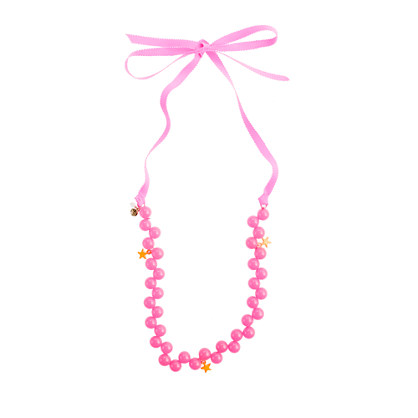 Girls' bead and stars necklace