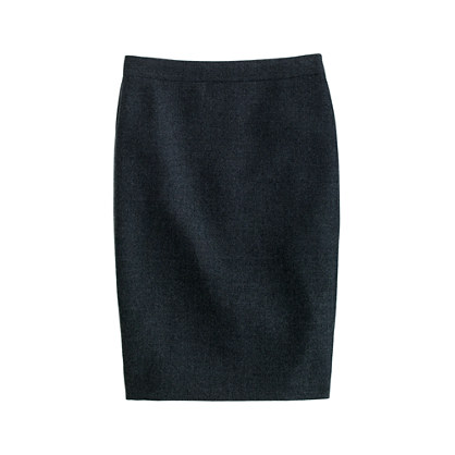 Petite No. 2 pencil skirt in double-serge wool