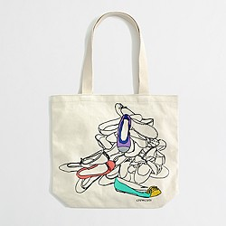 Factory girls' graphic canvas tote