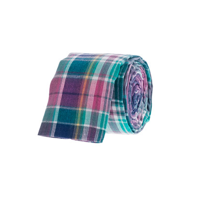 Indian cotton tie in Bermuda plaid