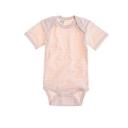 Nature Baby® short-sleeve cotton one-piece