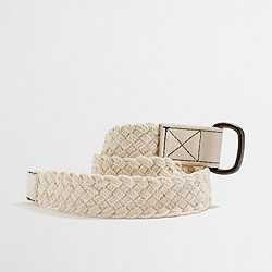 Factory boys' cotton braided belt