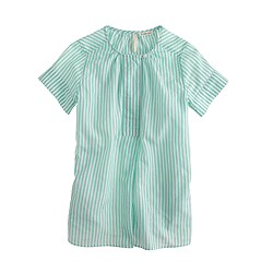 Girls' button tunic in candy stripe