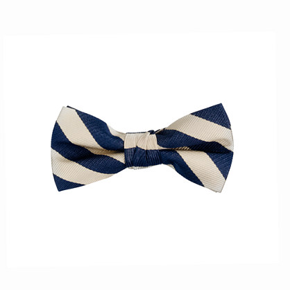 Boys' stripe silk bow tie