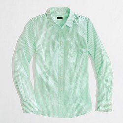 Factory stripe button-down shirt