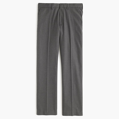 Bowery slim in heather cotton twill