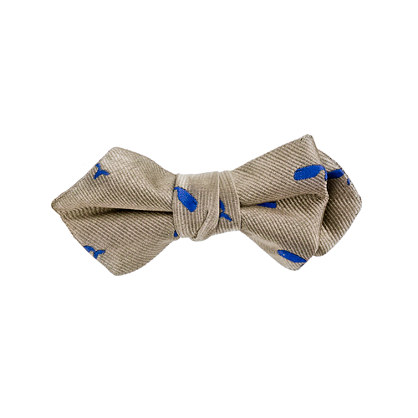 Boys' embroidered whale silk bow tie