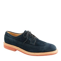Limited-edition Alden® for J.Crew longwing bluchers in navy suede