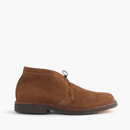 Limited-edition Alden® for J.Crew flex-toe chukkas in suede