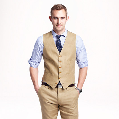 Ludlow suit vest in Irish linen