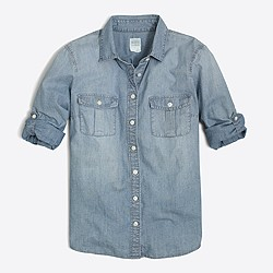 Factory classic chambray shirt