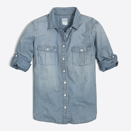 J. Crew Factory Classic Chambray Shirt